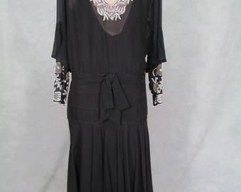 1920s Dress Vintage Beaded Flapper Dress Gatsby Dress Medium Size