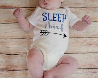 Sleep Thief, Baby Boy vest, new baby gift, novelty top, unique baby gift