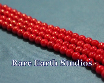 "5mm German Glass Red Beads 18"" 60516084"
