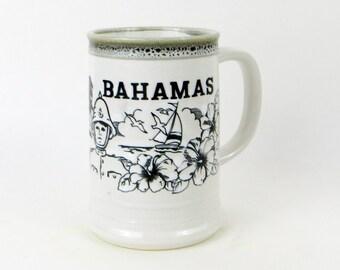 Vintage Bahamas Giant Stoneware Mug