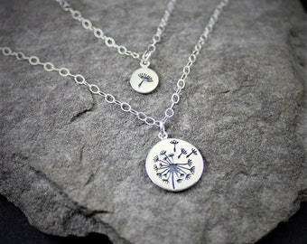 Mommy And Me Dandelion Necklaces