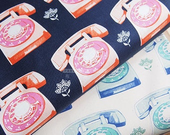 C+S cotton TELEPHONES fabric - 50cm
