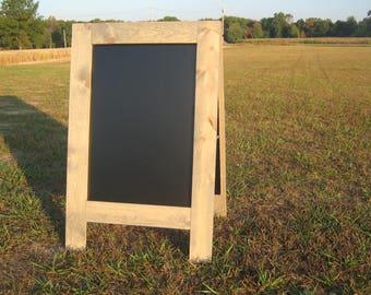 Classic gray sidewalk chalkboard grey sandwich chalkboard rustic double sided a frame chalk board