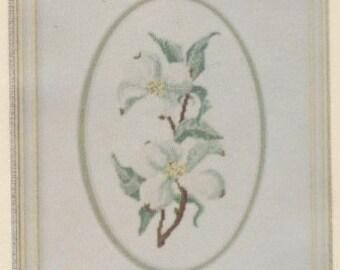 Helen Burgess Counted Thread Design. Dogwood Pattern. HB4019.