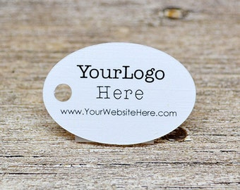 """90 tags - 1.5"""" - Oval Shape Customized Small Price Tags Jewelry Hang Tags Labels"""
