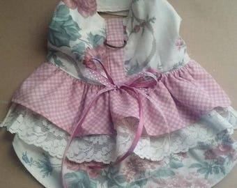Spring Roses Dog  Harness Dress