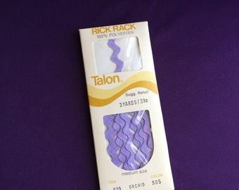Vintage rick rack, talon brand, in orchid (other colors also available on my site)
