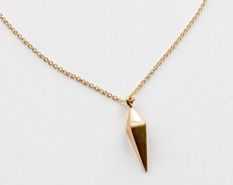 Gold Filled Prism Spike Necklace