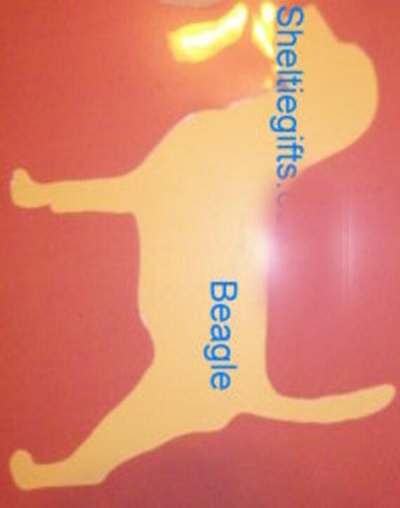 Puppy Bows ~ Beagle dog breed plastic craft stencil