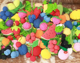 Set Crochet Vegetable 20PCs Play Food Decor Children Room Eco-friendly Toys Birthday Gift Sensory Toy Play Food Kitchen Decoration Amigurumi