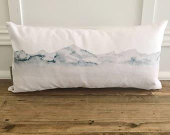 Watercolor Mountain Pillow Cover
