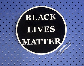 Black Lives Matter Circle Bumper Sticker