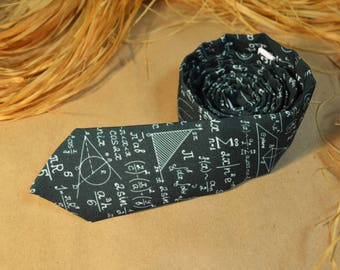 Formulas Necktie - Mathematics Tie - Math Gift - Physics Accessory
