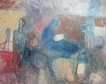 Abstract Expressionism Figures oil painting