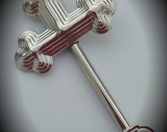 Silver Plated Cross Pendant - Just Add Your Favorite Beads
