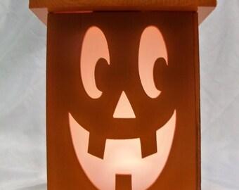 Jack O Lantern wooden lantern