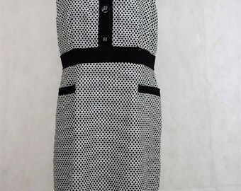 Vintage black and white dress, vintage clothing, vintage, clothing, dress, dresses, women's dresses, women's clothing, dresses for women