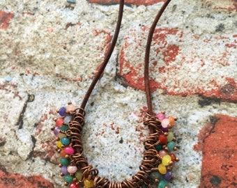 Color Pop Gemstone Cluster Necklace