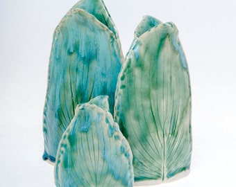 Hosta Leaf Vases