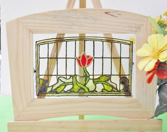 Panel with Red Tulip