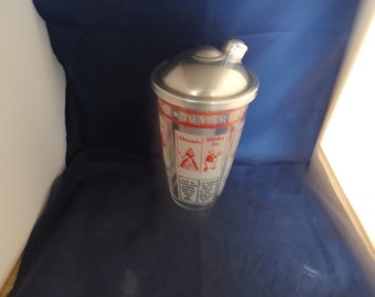 Retro Drink Shaker With Recipes