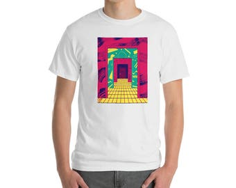 "Tunnel"" T-shirt by Andrea Manzati((( Neon Talk 80s · 90s · Memphis Design · Vaporwave · Retro Fashion"