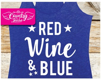 Country festival, Country music tank, Country concert, Country shirt, patriotic, Merica, Tees, 4th of July, Camping, Red Wine and Blue