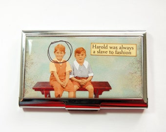 Business Card Case, Funny Card Case, Funny Business Card Case, Card case, business card holder, Humor, Slave to Fashion (3720)