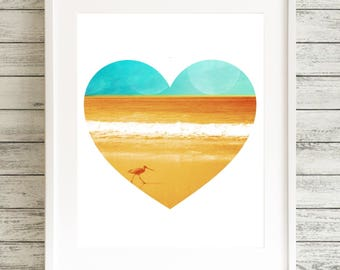 Lone Piper Heart - 11 x 14 Matted Print
