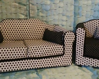 "18"" Doll Couch and Chair (Furniture)"
