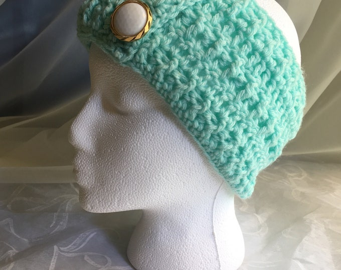 Crocheted Headband-Earwarmer-Fall Wear-Womens Accessories -READY TO SHIP-childrens Hats