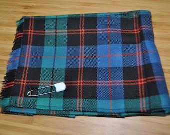 Baby Kilt, Newborn, in Guthrie Ancient tartan, 100% 10oz Pure New Wool, Handmade in Scotland.