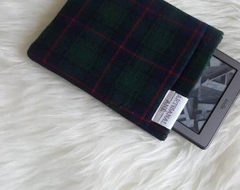 Kindle sleeve, kindle pouch, kindle protector, book bag, Book sleeve, tartan bibliosleeve