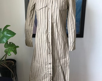 Vintage Marimekko Dress Shirt dress / Size 40, 12, Small - Medium / 1976 Finland