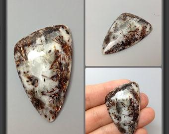 Astrophyllite cabochon 44x27x5mm