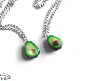 Couples Necklace Avocado Necklace Nerd Couples Food Jewelry