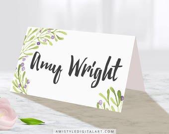Wedding Place Card, Olive, Wedding Table Decor