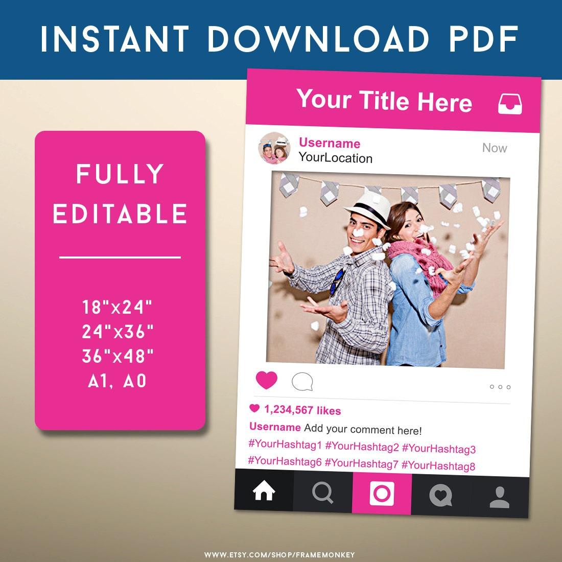 Instagram Zeichen Social-Media-Foto-Prop Hochzeit Zeichen