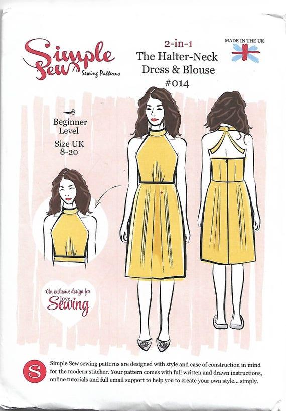 Schnittmuster Kleid Größe 8 20 Anfänger Kleid Muster