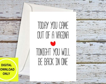 Naughty Birthday Card for Boyfriend, Dirty Birthday Cards, Birthday For Him, Husband Birthday Card Sexy, Sex Card, Dirty Cards, Printable