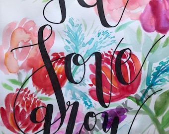 Let Love Grow- Watercolor Painting