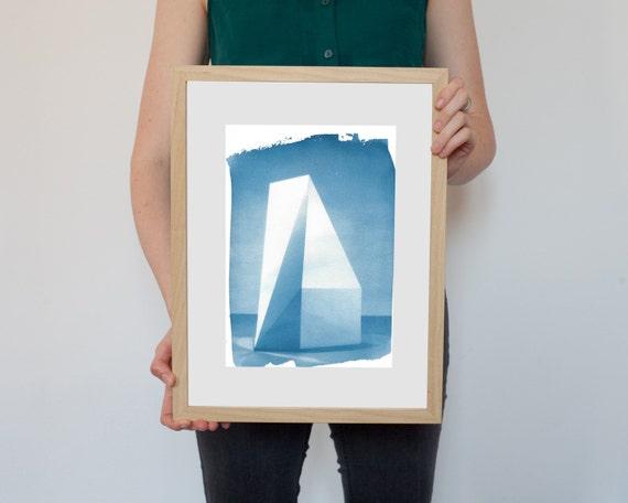 Sol Lewitt Conceptual Art Cyanotype Print