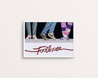 Footloose Art Print / 80s Movie Illustration