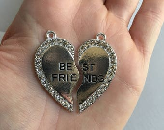 H43 Best Friends 2 Halves Pendant for Chunky Necklaces