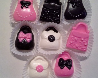 Chocolate Purse Cupcake Toppers