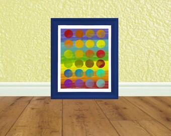 Printable Art - Rainbow Pop Art - Kids Bathroom - Art Print - Digital File - Instant Download - Graduation Gift
