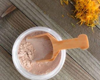Powdered mask, sensitive skin mask, face mask, herbal and clay mask, powder mask, natural, pink clay, kaolin, skincare routine, mineral