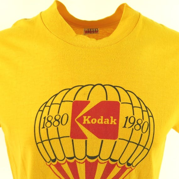 100 L T Anniversary Hanes 8 1880 Deadstock Shirt 0 Year H97A Kodak Vintage 1980 FqwYff
