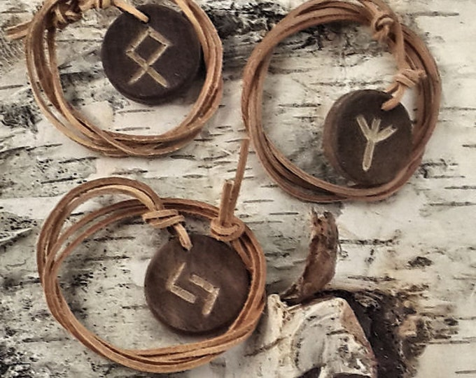Rune necklace, Rune pendant, Rune jewelry, Wood jewelry, Runes, Viking necklace, Viking pendant, Viking jewelry, Carving Rune