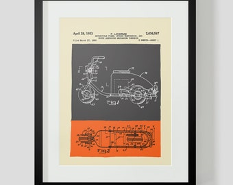Vintage Scooter Patent Print